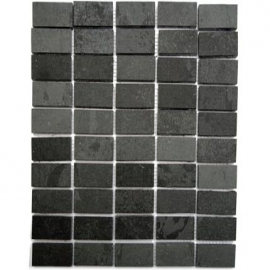 Black Straight Brick Mosaic
