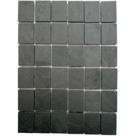 Grey Straight Square Mosaic